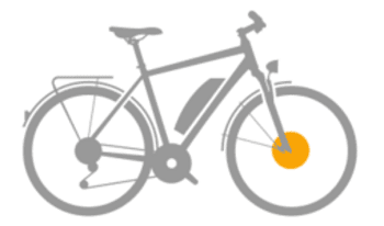 Bicicleta eléctrica con motor delantero