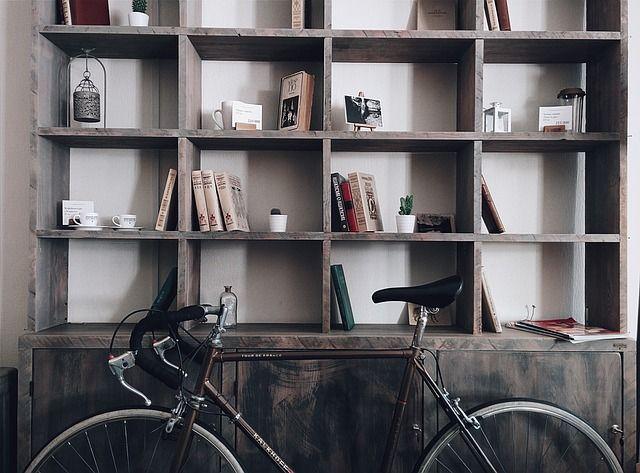 bici guardada durante el invierno
