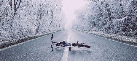 bici invierno carretera