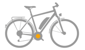 Bicicleta eléctrica con motor eje pedalier
