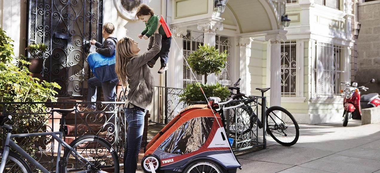 remolque infantil bicicleta thule